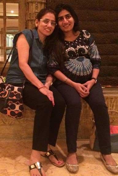 Nikita Vanjara With Mother