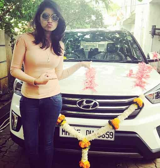 Rasika Sunil Owns Hyundai Car