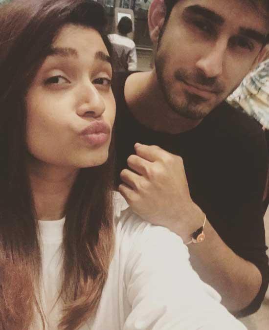 Rasika Sunil With Brother