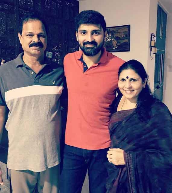 Samrat Reddy with parents