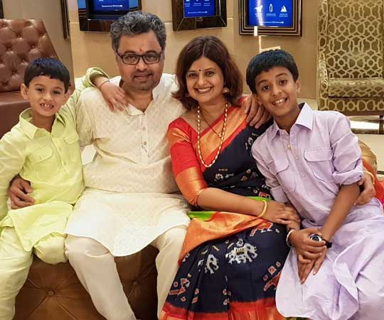 Subodh Bhave With Family