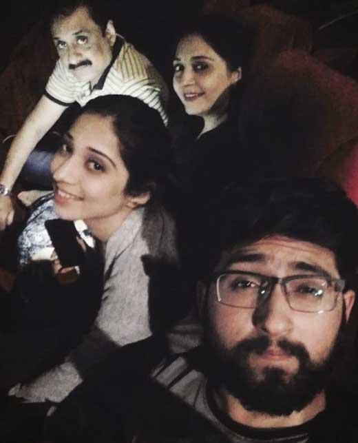 vrushika mehta with family