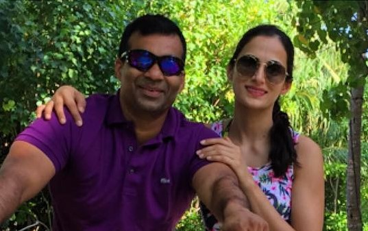 shilpa reddy with husband