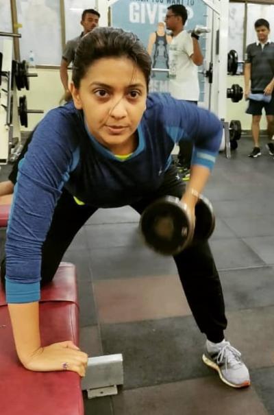 tejashree pradhan in gym
