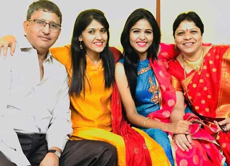 Akshaya Deodhar With Family