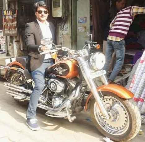 Anas Rashid Owns Harley Davidson Bike