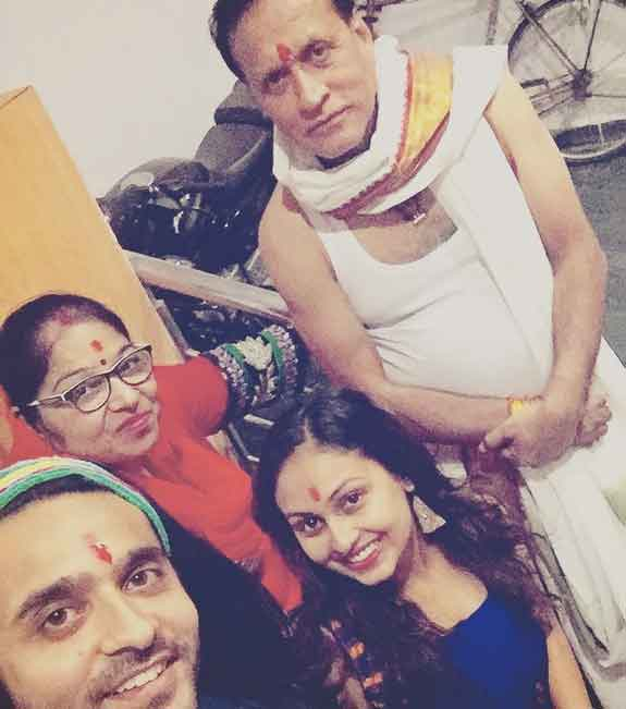 Ashish Sharmay With Family