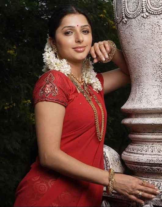 Bhumika Chawla In Red Sexy Saree