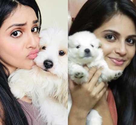 Megha Chakraborty With Pet
