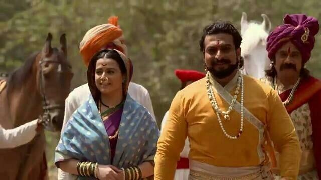 Prajakta Gaikwad With Co-Star Amol Kolhe