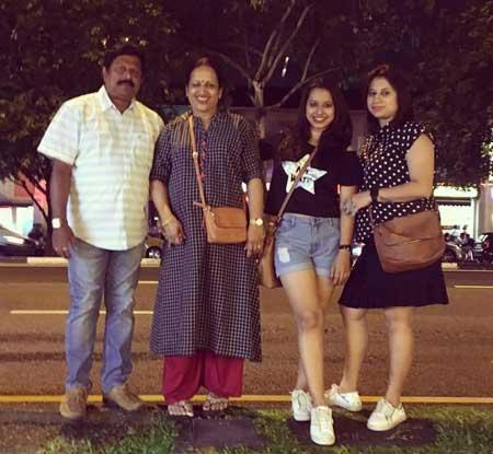 Shreya Bugde With Family