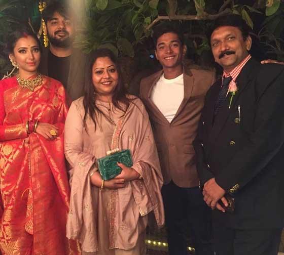 Shweta Basu Prasad With Family