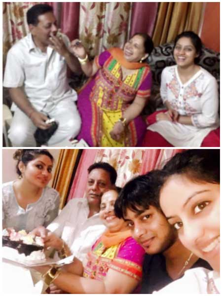deepika singh with family