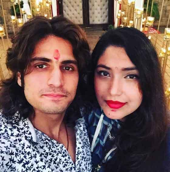 rajat tokas with wife