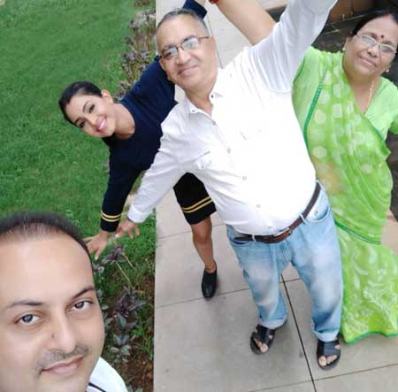 shubhangi atre with family