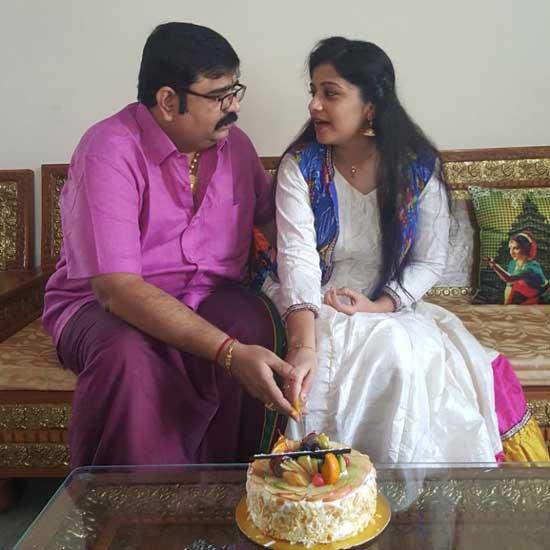 Veena Srivani With Husband Venu Swamy