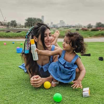 Avantika Mohan With Daughter Rayna Datta