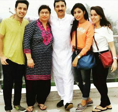 Harshita Gaur With Family