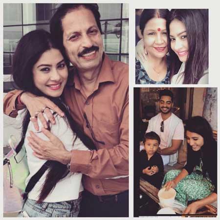 Krishna Mukherjee With Family