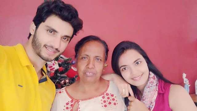 Marina Abraham With Family